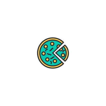 Pizza icon design. Gastronomy icon vector illustration