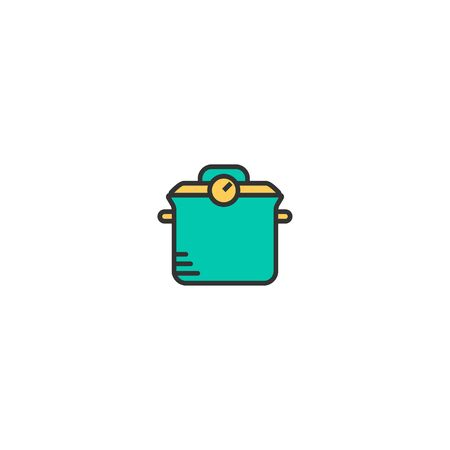 Pot icon design. Gastronomy icon vector illustration