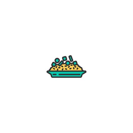 Risotto icon design. Gastronomy icon vector illustration