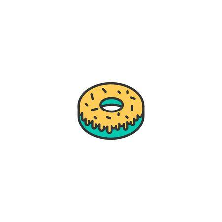 Doughnut icon design. Gastronomy icon vector illustration