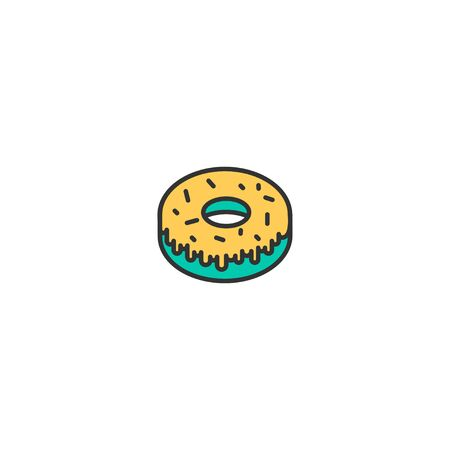 Doughnut icon design. Gastronomy icon vector illustration