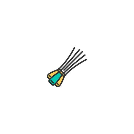 Chives icon design. Gastronomy icon vector illustration