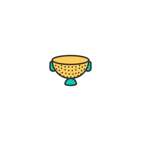 Strainer icon design. Gastronomy icon vector illustration Çizim