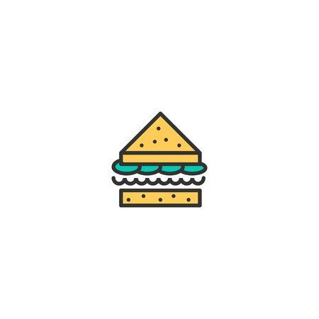 Sandwich icon design. Gastronomy icon vector illustration