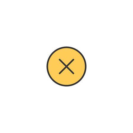 Eror icon design. Essential icon vector illustration