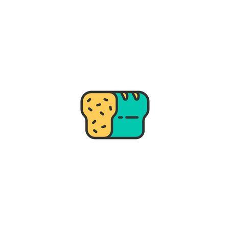 Bread icon design. Gastronomy icon vector illustration Standard-Bild - 128908609