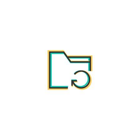 Folder icon design. Interaction icon vector illustration