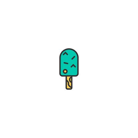 Ice cream icon design. Gastronomy icon vector illustration