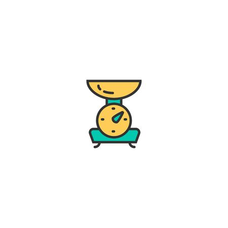 Scale icon design. Gastronomy icon vector illustration Illustration