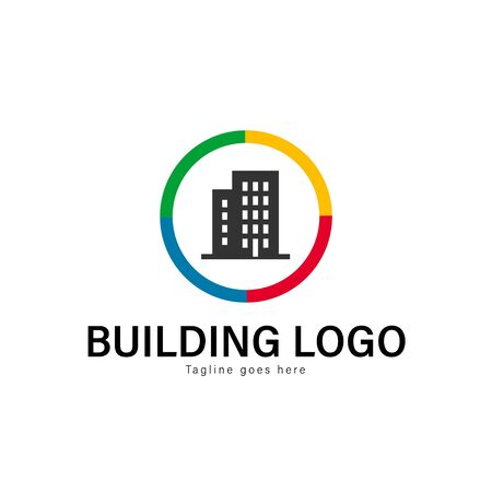 Building logo template design. Building logo with modern frame isolated on white background 일러스트