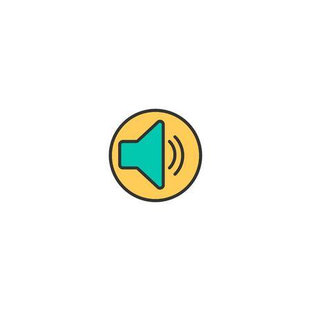 Speaker icon design. Essential icon vector illustration