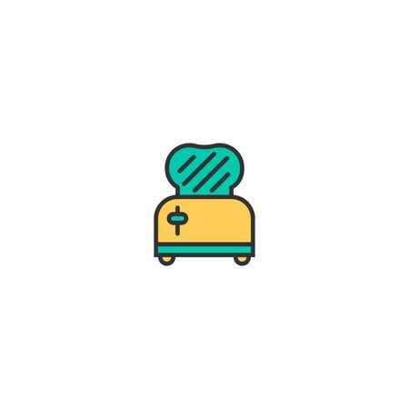 Toaster icon design. Gastronomy icon vector illustration Stock Vector - 128978531
