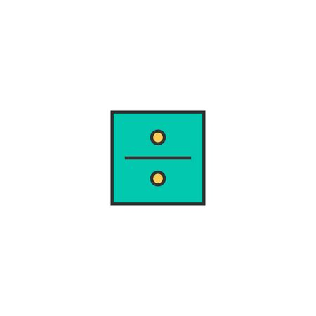 Divide icon design. Essential icon vector illustration