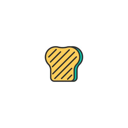 Toast icon design. Gastronomy icon vector illustration Standard-Bild - 128978998
