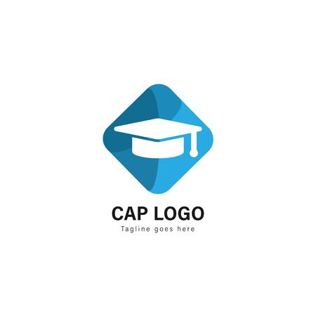 University logo template design. University logo with modern frame isolated on white background 스톡 콘텐츠 - 128979004