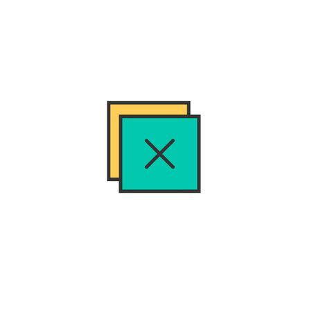 Close icon design. Essential icon vector illustration Stock Illustratie