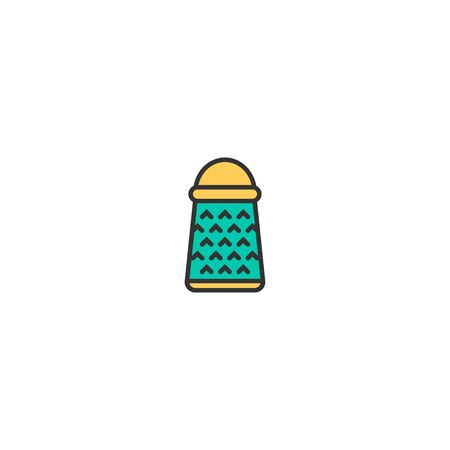 Grater icon design. Gastronomy icon vector illustration Illustration