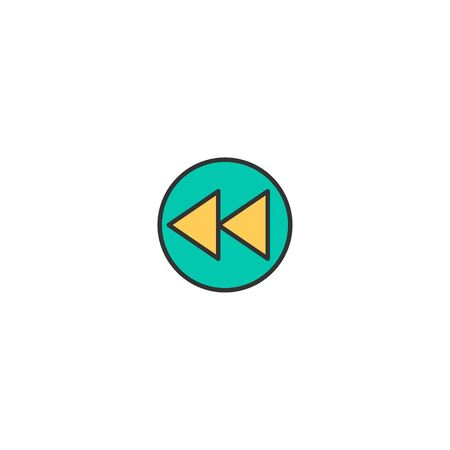 Rewind icon design. Essential icon vector illustration