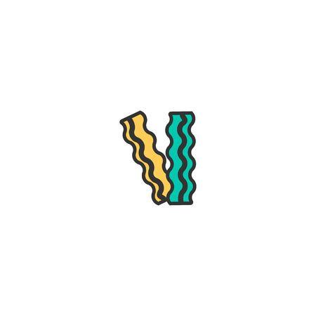 Bacon icon design. Gastronomy icon vector illustration