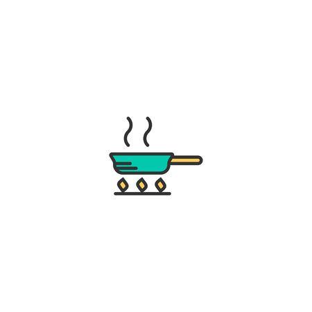 Pan icon design. Gastronomy icon vector illustration Çizim
