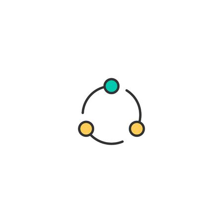 Share icon design. Essential icon vector illustration Illusztráció