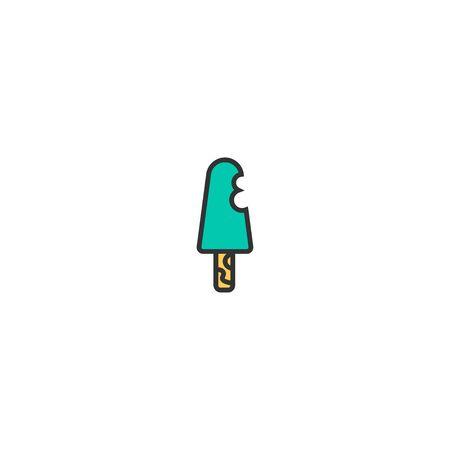 Ice cream icon design. Gastronomy icon vector illustration