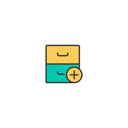 Archive icon design. Interaction icon vector illustration Illustration