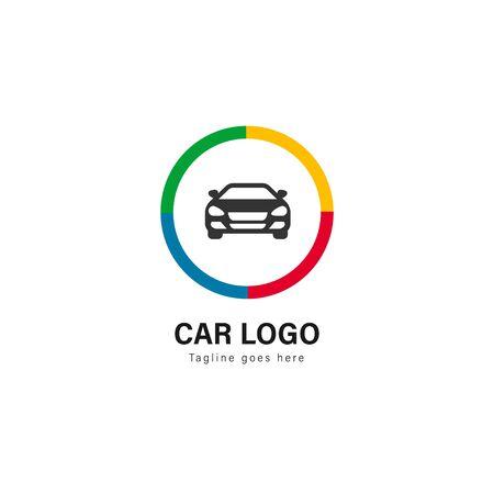 Car logo template design. Car logo with modern frame isolated on white background Illusztráció