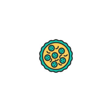 Pizza icon design. Gastronomy icon vector illustration Фото со стока - 129034540