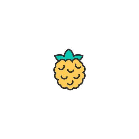 Rasberry icon design. Gastronomy icon vector illustration Imagens - 129034562