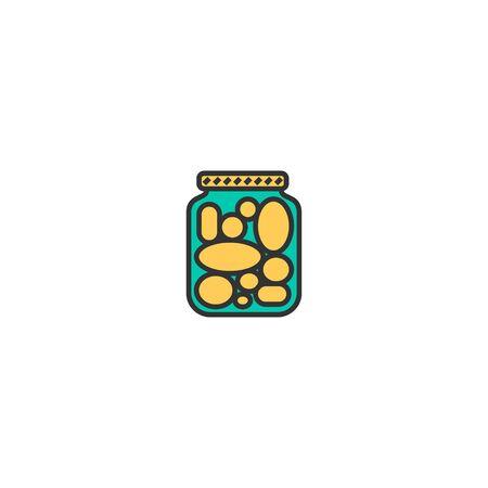 Pickles icon design. Gastronomy icon vector illustration