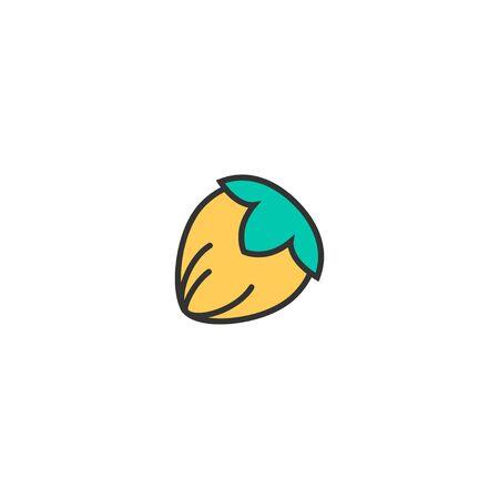 Hazelnut icon design. Gastronomy icon vector illustration