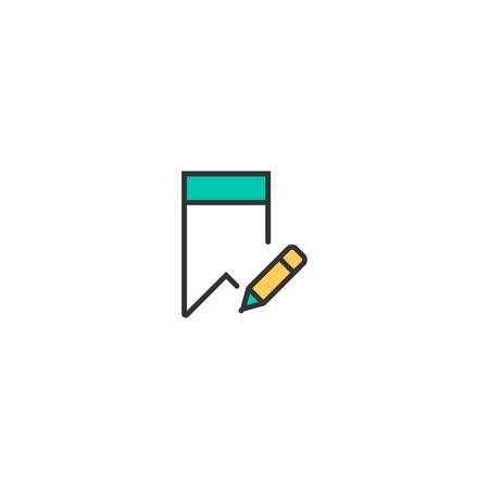 Bookmark icon design. Interaction icon vector illustration