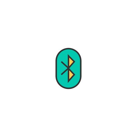 Bluetooth icon design. Essential icon vector illustration Ilustração