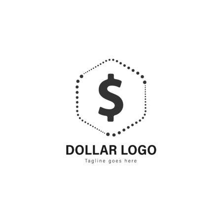 Money logo template design. Money logo with modern frame isolated on white background Imagens - 129037434