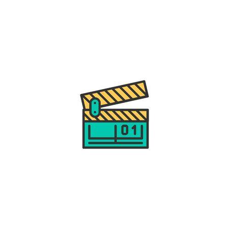 Clapper board icon design. Photography and video icon vector illustration