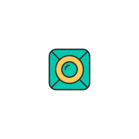 Spot light icon design. Photography and video icon vector illustration