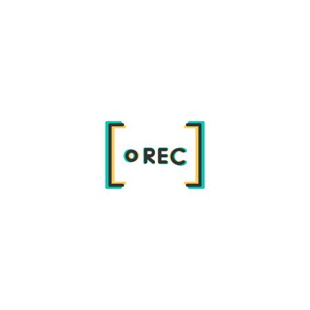 Rec icon design. Photography and video icon vector illustration
