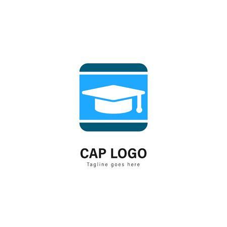 University logo template design. University logo with modern frame isolated on white background 스톡 콘텐츠 - 129039238