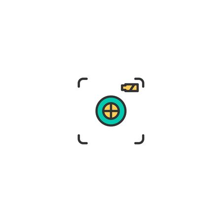 Focus icon design. Photography and video icon vector illustration