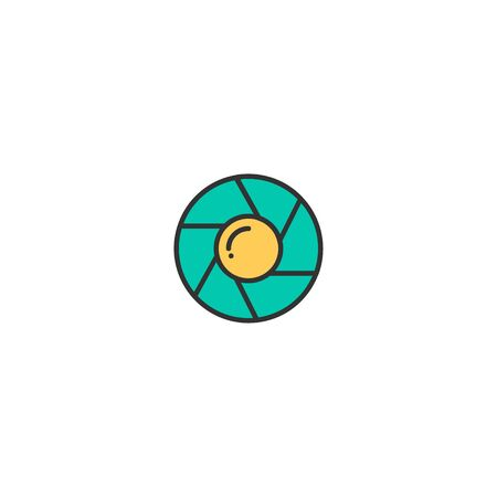 Shutter icon design. Photography and video icon vector illustration
