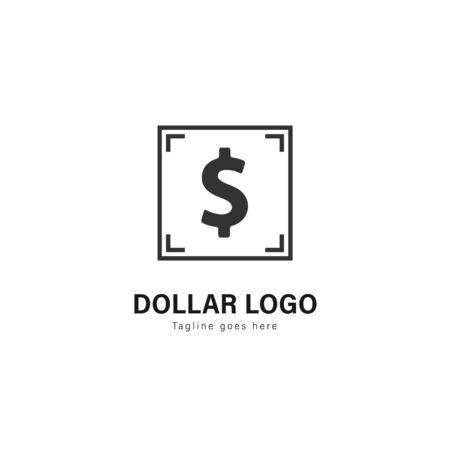 Money logo template design. Money logo with modern frame isolated on white background Imagens - 129039765