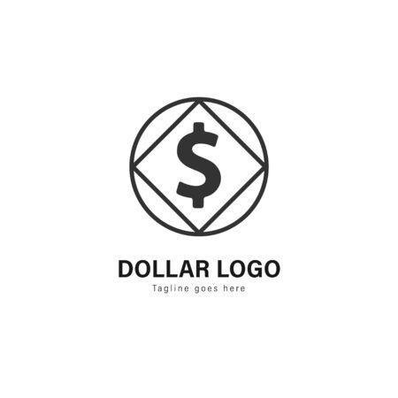 Money logo template design. Money logo with modern frame isolated on white background Imagens - 129040004