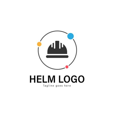 Construction logo template design. Construction logo with modern frame isolated on white background