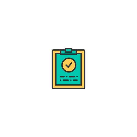 Clipboard icon design. Marketing icon vector illustration