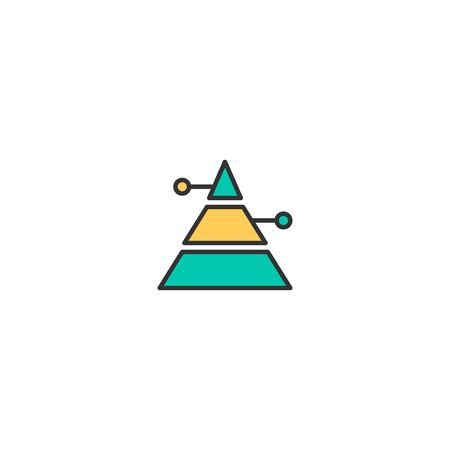 Pyramid icon design. Marketing icon vector illustration Фото со стока - 129167725