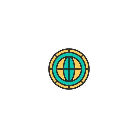 Coin icon design. Marketing icon vector illustration Foto de archivo - 129167861