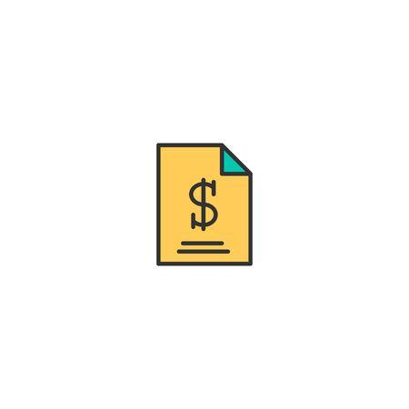 Bill icon design. Marketing icon vector illustration