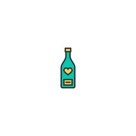 Wine bottle Icon Design. Lifestyle icon vector illustration