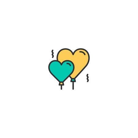 Balloons Icon Design. Lifestyle icon vector illustration Standard-Bild - 129168196